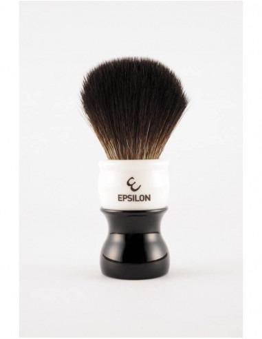 Помазок для бритья Epsilon Black Fibre Black & White