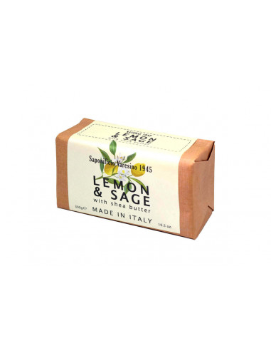 Натуральное мыло Saponificio Varesino с лимоном и шалфеем