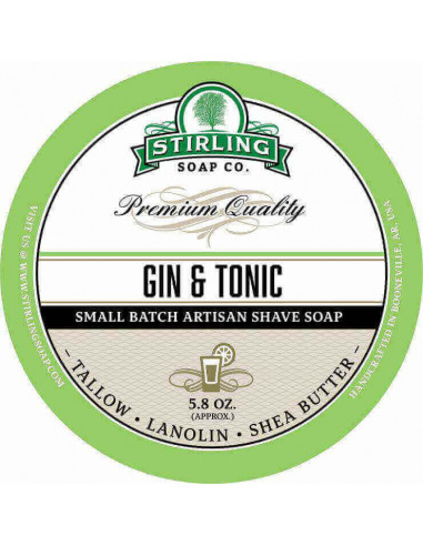 Мыло для бритья Stirling Soap Gin & Tonic 170мл