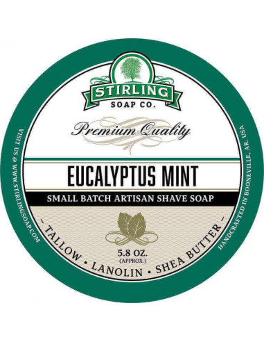 Мыло для бритья Stirling Soap Eucalyptus Mint 170мл