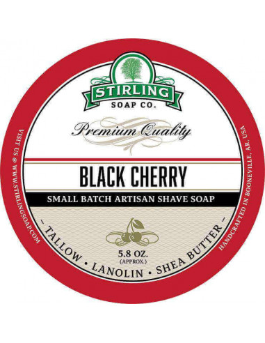 Мыло для бритья Stirling Soap Black Cherry 170мл