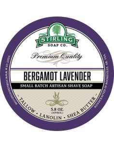 Мыло для бритья Stirling Soap Bergamot Lavender 170мл