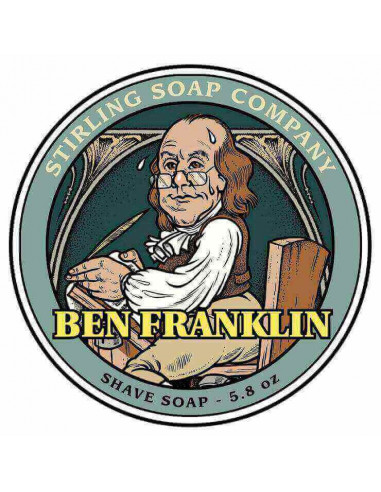 Мыло для бритья Stirling Soap Ben Franklin 170мл