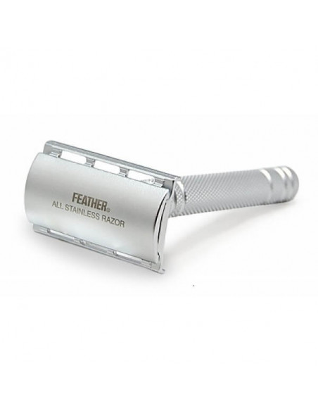 Т-образная бритва Feather AS-D2S с подставкой